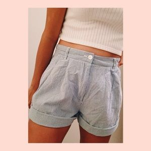 TOMMY HILFIGER paper material striped shorts